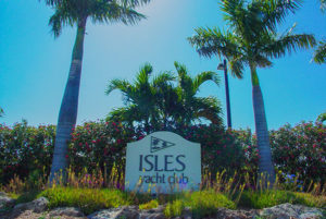 Isles Yacht Club sign